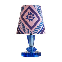 Italian Vintage Murano Table Lamp with Pink Lampshade
