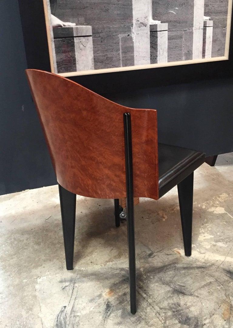 Italian Vintage Pair of Saporiti Club Chairs, 1980s For Sale 4