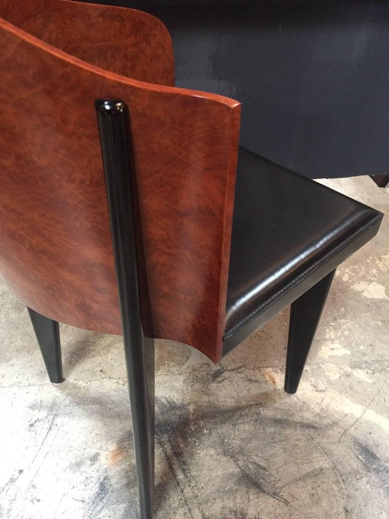 Italian Vintage Pair of Saporiti Club Chairs, 1980s For Sale 5