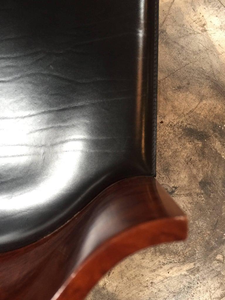 Italian Vintage Pair of Saporiti Club Chairs, 1980s For Sale 7