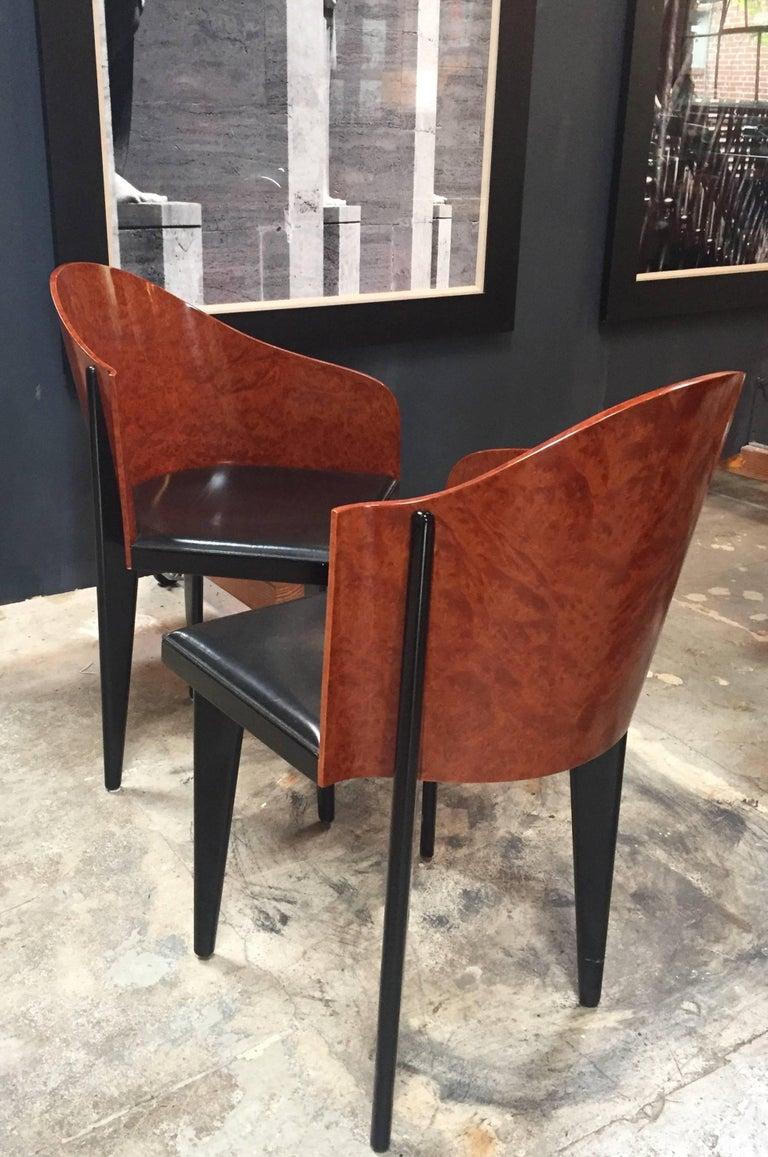 Italian Vintage Pair of Saporiti Club Chairs, 1980s For Sale 10