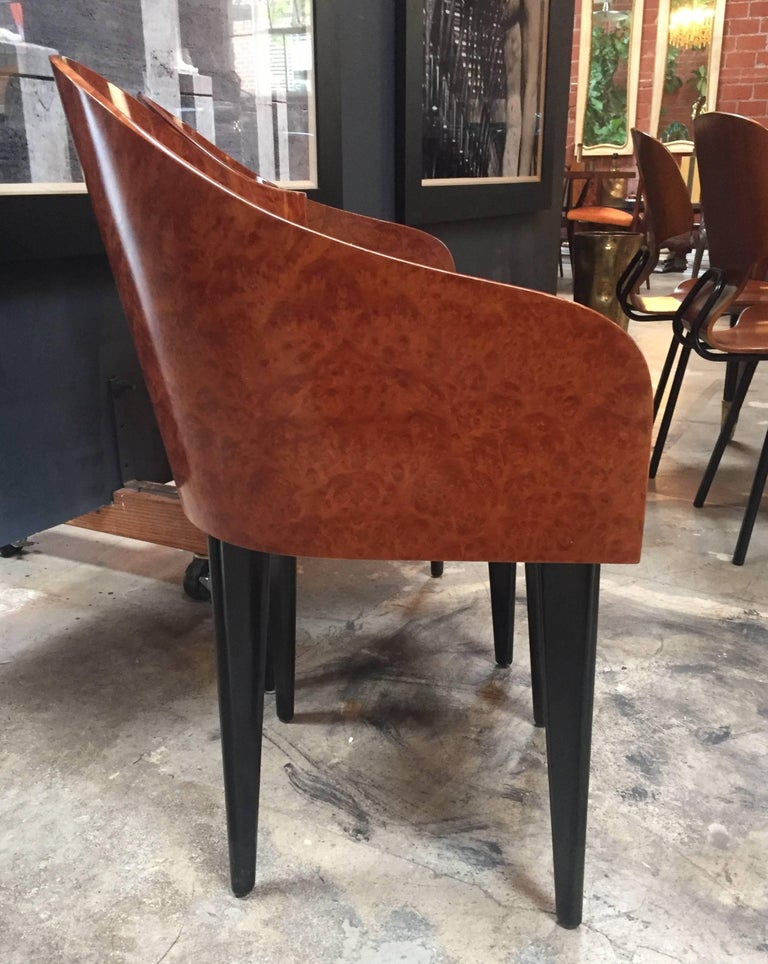 Leather Italian Vintage Pair of Saporiti Club Chairs, 1980s For Sale