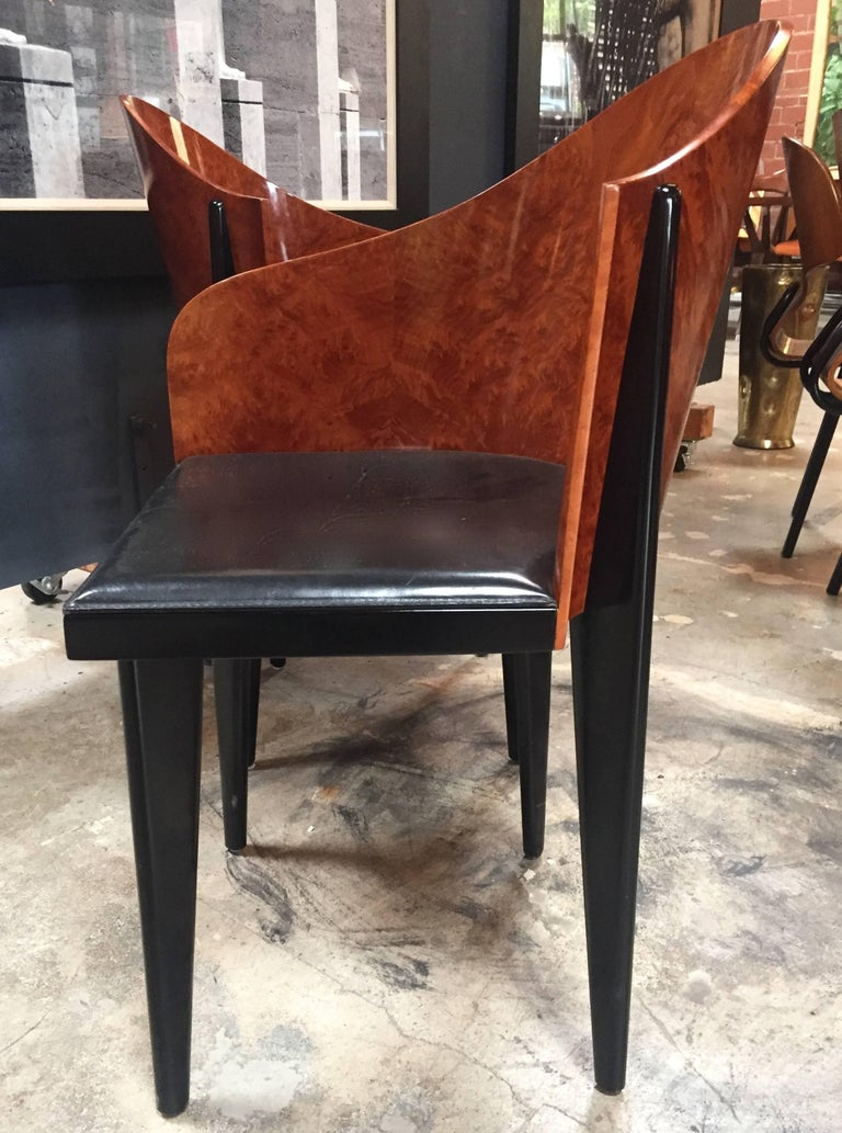 Italian Vintage Pair of Saporiti Club Chairs, 1980s For Sale 1