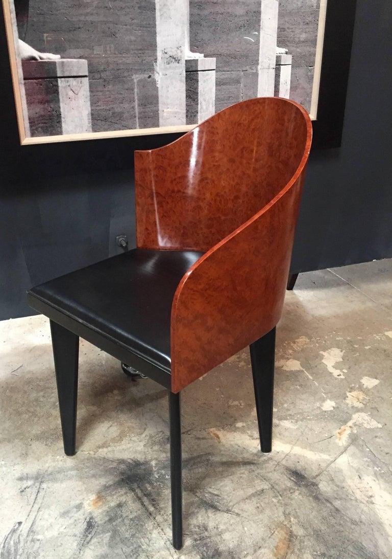 Italian Vintage Pair of Saporiti Club Chairs, 1980s For Sale 3