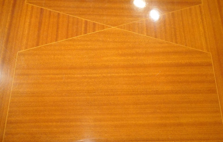 Mid-Century Modern Italian Vintage Paolo Buffa Inspired Extendable Parquetry Dining Table
