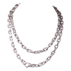Italian Vintage Platinum Necklace Bracelet Set