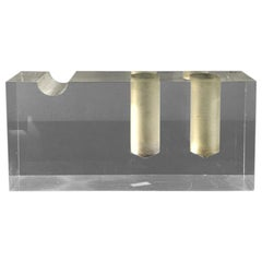 Italian Vintage Rectangular Plexiglass Pen Holder by Harvey Guzzini, 1970s