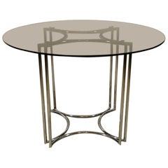 Italian Vintage Round Table Steel