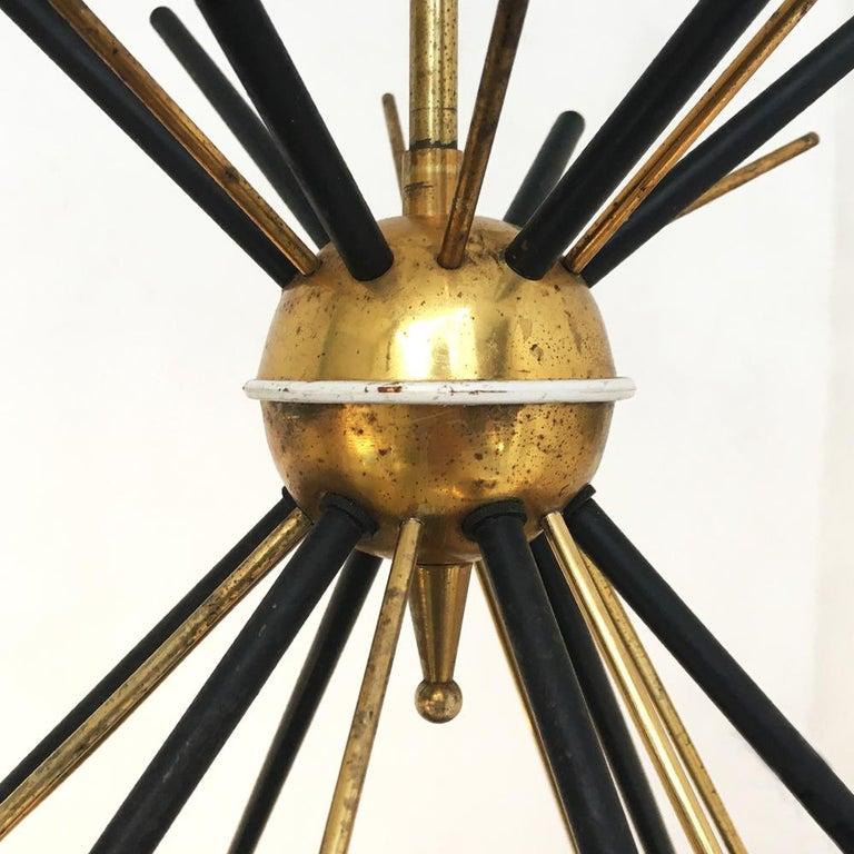 Italian Vintage Six Lights Sputnik Chandelier by Stilnovo, 1950s 4