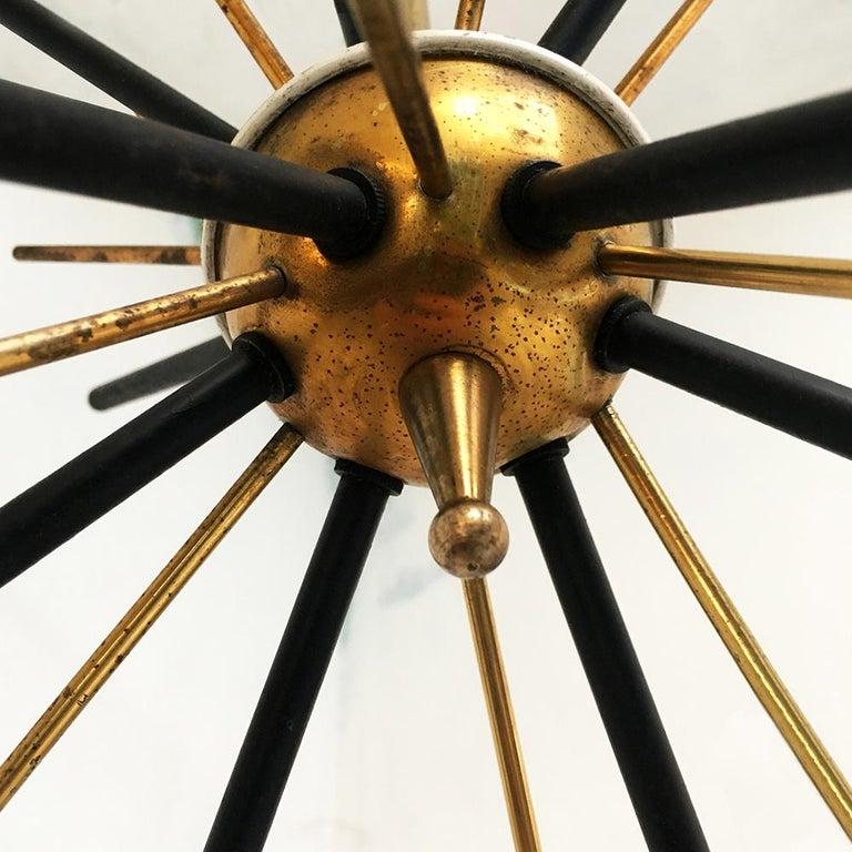 Italian Vintage Six Lights Sputnik Chandelier by Stilnovo, 1950s 5