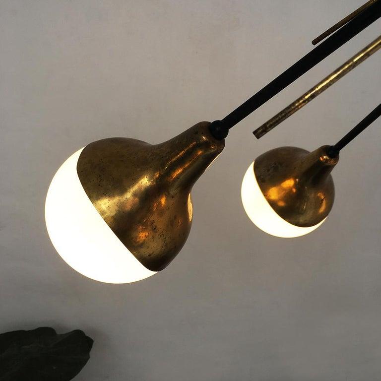 Mid-20th Century Italian Vintage Six Lights Sputnik Chandelier by Stilnovo, 1950s