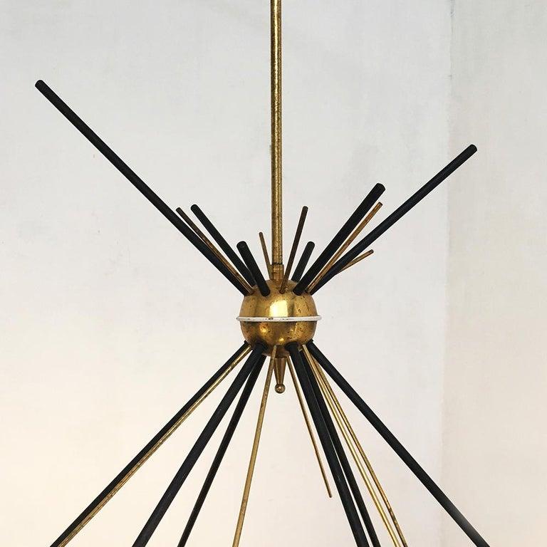 Italian Vintage Six Lights Sputnik Chandelier by Stilnovo, 1950s 2