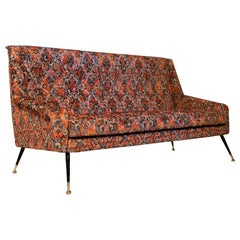 Italian Vintage Sofa with Rubelli Upholstery