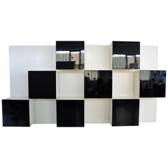 Italian Vintage Wall Unit Storage System by Roberto Monsani for Acerbis, 1970s