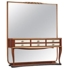 Italian Wall Console with Large Mirror