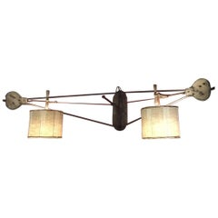 Italian Wall Double Lamp Made with a Children's Toy from Late 19th Century