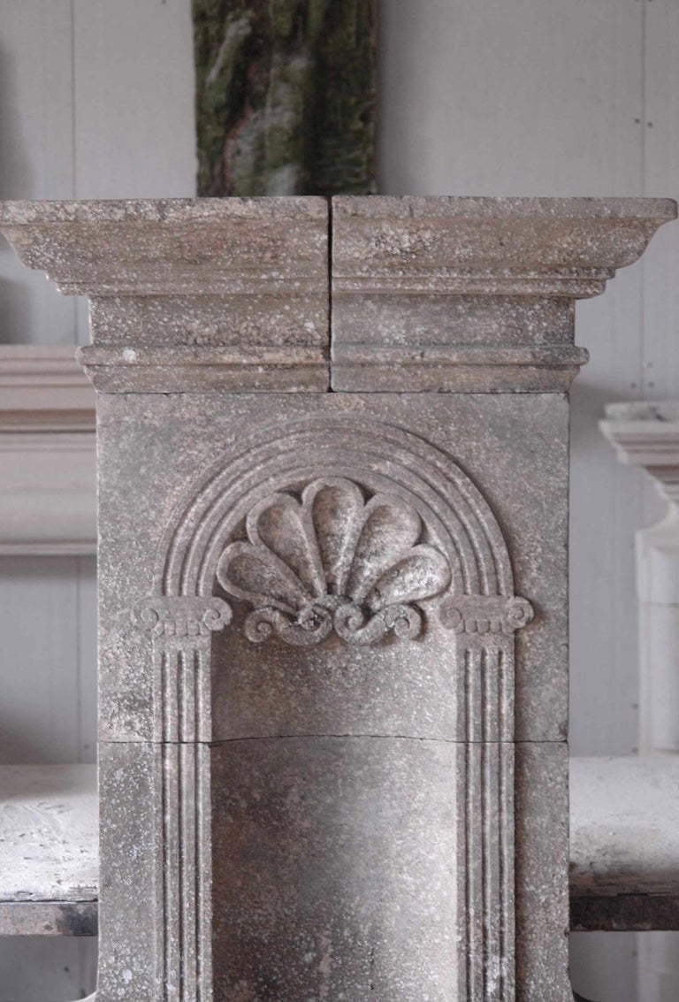 Italian Wall Fountain Handcrafted Limestone, 21st Century For Sale 6