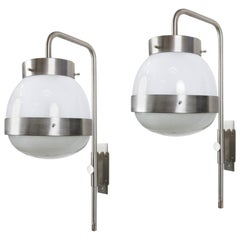 Italian Wall Lamp Pair of Mod. Delta by Sergio Mazza for Artemide, 1960s