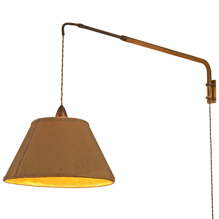 Italian Wall Light with Extendable Arm, 1960s For Sale