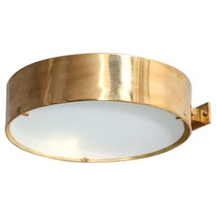 """Pair of italian Wall Lights """"Gabriella"""" Brass/Frosted Glass Angelo Lelli Style"""