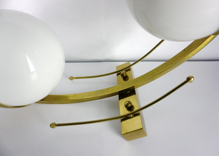 Mid-Century Modern Italian Wall Lights or Sconces Attributed to Stilnovo For Sale