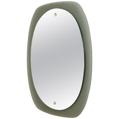 Italian Wall Mirror with Frame, Italy, 1960s, Attributed to Veca