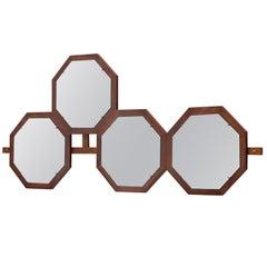 Italian Wall-Mounted Mirror by Isa