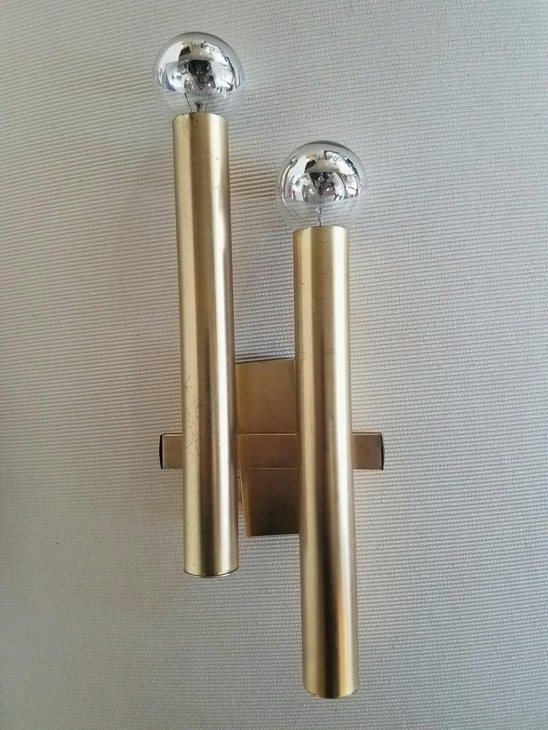 Italian 1960s brass wall lights.