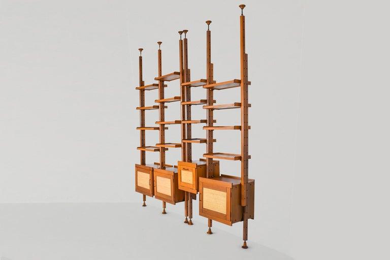 Mid-Century Modern Italian Wall Unit by Leonardo Fiori for ISA Bergamo For Sale