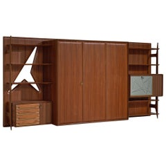 Italian Wall Unit in Mahogany