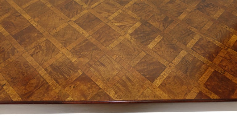 Italian Walnut and Burl Walnut Parquetry Coffee Table, circa 1960 For Sale 3