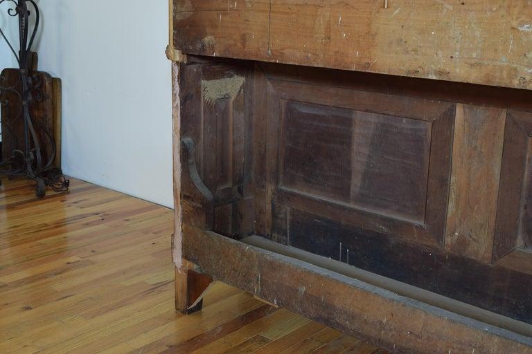 Italian Walnut and Ebonized Tall 2-Piece Bookcase Cabinet, Mid-19th Century For Sale 14