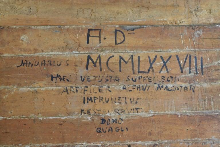 Italian Walnut and Ebonized Tall 2-Piece Bookcase Cabinet, Mid-19th Century For Sale 15