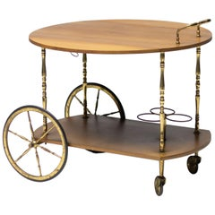 Italian Walnut Bar Cart