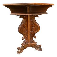Italian Walnut Baroque Style Eagle Table