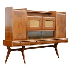 Italian Walnut Buffet Sideboard and Bar