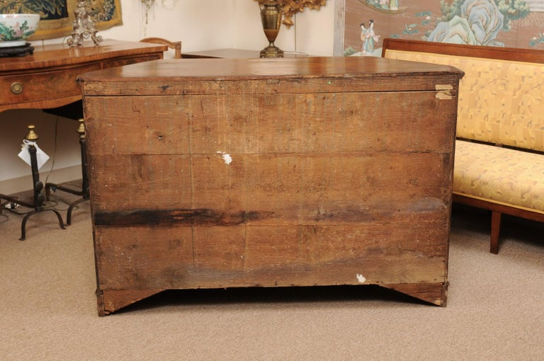 Italian Walnut Canted Crendenza, Early 19th Century For Sale 8