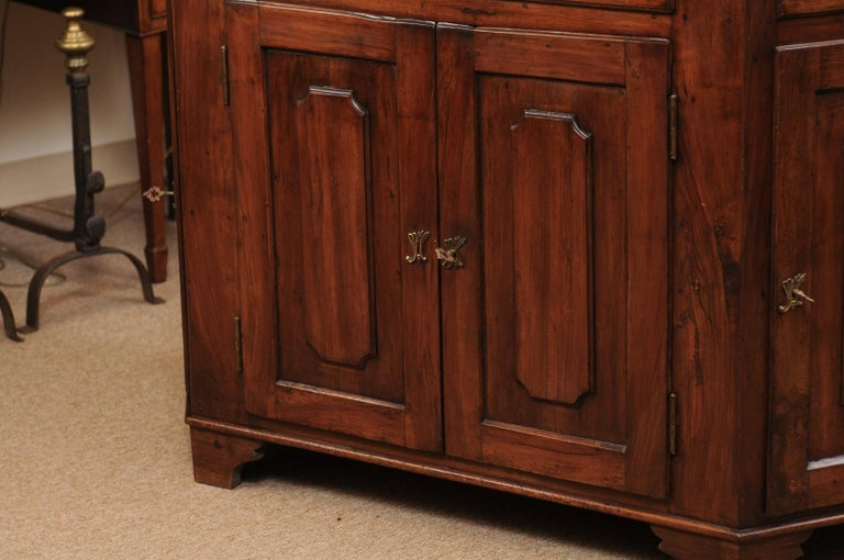 Italian Walnut Canted Crendenza, Early 19th Century For Sale 13