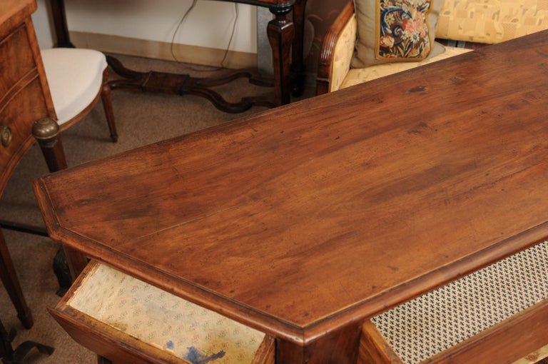 Italian Walnut Canted Crendenza, Early 19th Century For Sale 2