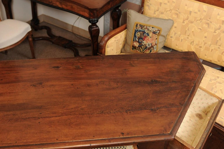 Italian Walnut Canted Crendenza, Early 19th Century For Sale 3