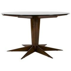 Italian Walnut Center Table Attributed to Osvaldo Borsani