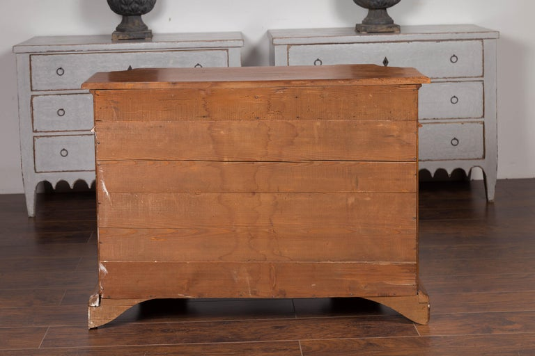 Italian Walnut Credenza with Drawers over Doors and Curving Sides, circa 1860 6