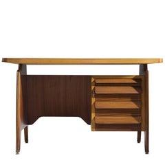 Italian Walnut Writing Desk, ca. 1950