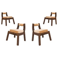 Italian Walnut Dining Chairs from the 1950s