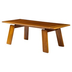 Italian Walnut Floating Dining Table by Afra and Tobia Scarpa for Mobil Girgi