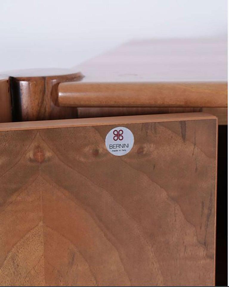 Italian Walnut Scuderia Horizontal Sideboard by Carlo Scarpa for Bernini For Sale 2