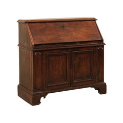 Italian Walnut Secretary Cabinet from the 18th Century