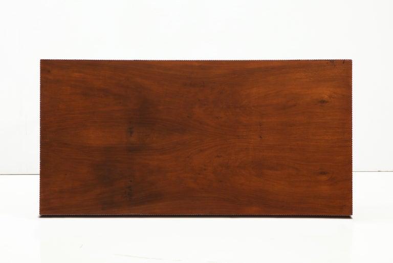 Italienischer Walnussholz Tisch mit Schublade und Konischen Beinen, Stil von Gio Ponti 16