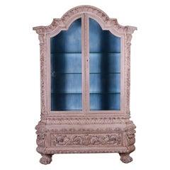 Italian Walnut Vitrine / Display Cupboard