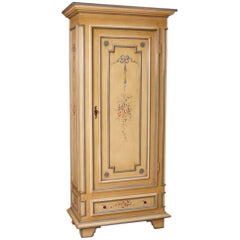 Italian Wardrobe in Lacquered and Painted Wood in Louis XVI Style